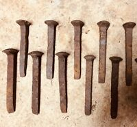 A lot of 10 Vintage Railroad Spikes RR Train Track Blacksmith Tent Spikes Used,