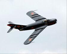 RUSSIAN MIG-17 FIGHTER JET IN FLIGHT 8x10 SILVER HALIDE PHOTO PRINT
