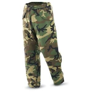Genuine US Army ECWCS Woodland Camo Gortex Trousers, XL Regular NEW