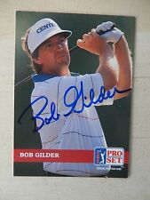 Bob Gilder Autographed 1992 Pro Set Golf Card