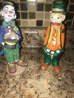 Vintage Porcelain Ceramic Clown Figurines Lot Of 2