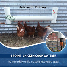 Watchful Rooster Automatic Chicken Watering System With 6 Water Drinking Nipples