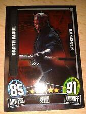 Force Attax Star Wars Serie Movie 3 Star-Karte 218 Darth Maul Sammelkarte