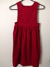 Ralph Lauren Girl Corduroy Dress size 6X Nwt Red