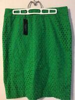 Talbots Women Pencil Skirt lined Green Sz 8 $109