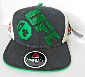 Reebok UFC Ireland Black/Green/Cream Flat Brim Snapback Hat - OSFM - NWT
