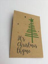 10x Tomillo Semilla Navidad Detalles regalos Paquetes Personalizado Mesa