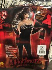 A Nightmare On Elm Street Adult Female Sexy Freddy Costume, Never Sleep Size S
