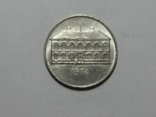 Old Iceland Coin - 1974 50 Kronur - Circulated, spots, scratches