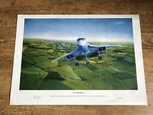 Rare Limited Edition Concorde Print, Mint/New, signed by Pilots and Artist