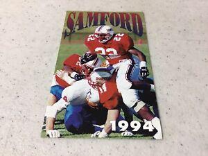 1994 Samford University NCAA Football Pocket Schedule