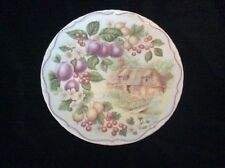 Royal Albert bone china Plate Harvest Festival Plum art work  by June Jones