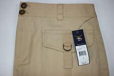 NWT AMERICAN LIVING Size 8 Women's Flat Front Dark Sand 2 Pocket STRETCH Skirt