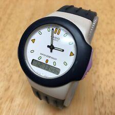 RARE CASIO AW-52 Asymmetrical Analog Digital Alarm Chrono Watch Hour~New Battery