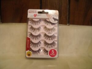NEW KISS EVERZLASHES 56727 KPLM03  5 PAIRS