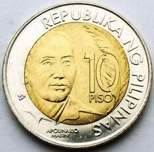 PHILIPPINES 10 PISO 2014 APOLINARIO MABINI - 150 YEARS BIMETAL BIMETALLIC COIN