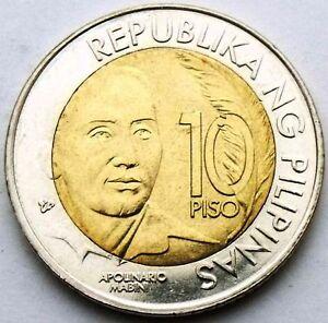 PHILIPPINES 10 PISO 2014 APOLINARIO MABINI - 150 YEARS BIMETAL BIMETALLIC COIN