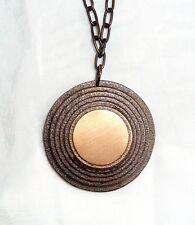 Bronzeplakette Wurfscheibe mit Kette - jagdl. + sportl. Schießen - Auszeichnung