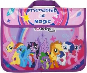 My Little Pony Friendship is Magic Character School Book Bag Kids Document Bag