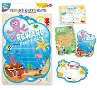12 x A4 Childrens Reward Certificates School Nursery Awards Teacher Classroom