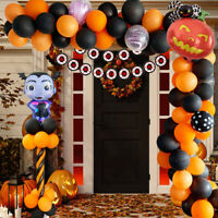 125PCS/Set Halloween Latex Foil Balloons Arch Ballons Spider Ghost Party Decor