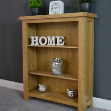 Small Oak Bookcase / Low Bookshelf Solid Wood Storage Shelves / Newbury