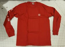 Honda Official Licensed Product Red Civic Long Sleeve T-Shirt Tee Sz LARGE OEM