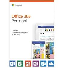 Microsoft QQ2-00728 Office 365 Personal 12-month subscription, 1 person, PC/Mac