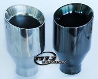 """4"""" inch Double Skinned Exhaust Slash Cut Jap Style Tail Pipe High Sport Trim Tip"""