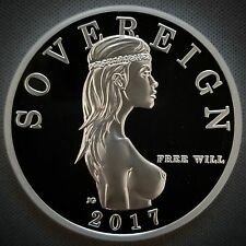 Free Will Bullion 1 Troy Oz .999 Fine Silver Free Will Sovereign™ Proof Round