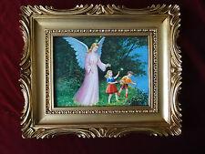 Bild mit Rahmen Heilige Maria Engel Wiese Antik Rahmen in Gold Heilig Religiös