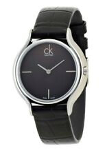 Calvin Klein Designer Damen Uhr Skirt K2U231C1Lederarmband Metallic Swiss made