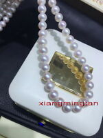"""round natural AAAAA 18""""10-11MM REAL SOUTH SEA WHITE PEARL NECKLACE 14K gold"""