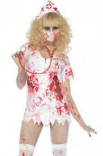 NUOVO Zombie-Infermiera BETTY Halloween Costume Rocky Horror Show LEG AVENUE ABITO M/L