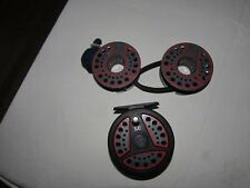 """A1 vintage Leeda LC80 trout fly fishing reel  3.+ 3/8ths"""" & 2 spools & bands"""