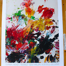 CY TWOMBLY 2011 SWEDEN EXHIBITION POSTER LARGE RARE