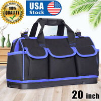 USA Tool Bags 20 inch Waterproof Top Wide Mouth Electrician Bags Pouch Organizer