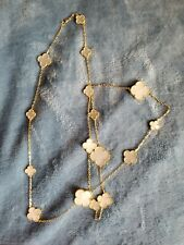 New listing Van Cleef Style Gold Mother Of Paerl Necklace