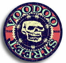 HOT ROD RETRO VOODOO OCCULT LOGO STICKER OLD SKOOL, Voodoo Street