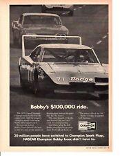 1969 DODGE CHARGER DAYTONA / BOBBY ISSAC ~ ORIGINAL CHAMPION AD