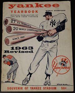 1963 Yankees Yearbook Mickey Mantle Berra Ford Stengel 1962 World Series Champs