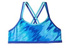 NWT Nike Girls Splash Spider Back Bralette Bikini Top Blue Tie Dye Size 12