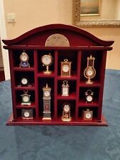 GORHAM CLASSIC MINATURE QUARTZ CLOCK COLLECTION WITH DISPLAY CASE