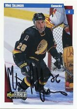 MIKE SILLINGER CANUCKS AUTOGRAPH AUTO 97-98 UD COLLECTORS CHOICE #260 *30583