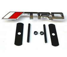 TRD Chrome Front Grill Badge Emblem SUPRA TURBO JDM STARLET YARIS IS200 METAL