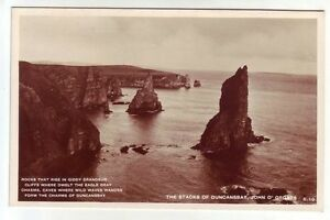 Duncansby (Duncansbay) Stacks John O'Groats Caithness Real Photograph S.10