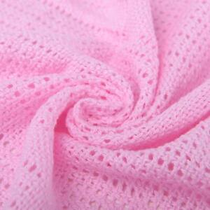 Pink Premium Quality Cotton Cellular Blanket,Pram/Cot/Cot bed/Single/Double/King