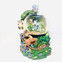 RARE Disney BAMBI - Little April Showers - Large Musical Snow Globe With Box HTF