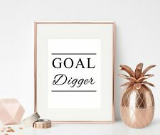 Inspirational Quote Print Office Wall Art Gift For Her Motivational Goal Digger