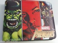 RETRO AVENGERS HEROES ! wallet  infinity war gauntlet Marvel Comics thor hulk